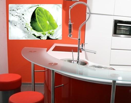 Produktfoto Selbstklebendes Wandbild Splash Lime