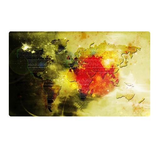 Produktfoto Selbstklebendes Wandbild Worldcode