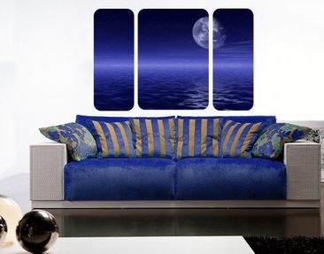 Product picture Wall Mural The Moon and Ocean Triptych...
