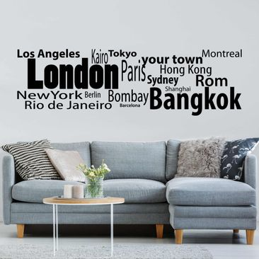 Product picture Wall Decal no.428 CustomText...