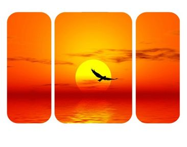Product picture Wall Mural Fabulous Sunset Triptych II