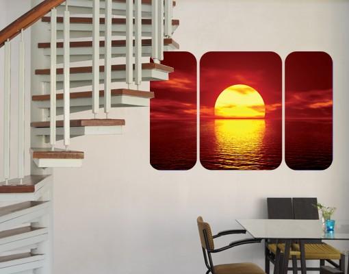 Produktfoto Selbstklebendes Wandbild The Fantastic Sunset Triptychon II
