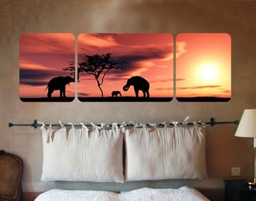 Produktfoto Wall Mural The African Elefant Family...