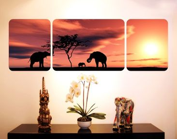 Product picture Wall Mural The African Elefant Family...