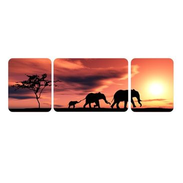 Product picture Wall Mural The Savannah Elefant Family...