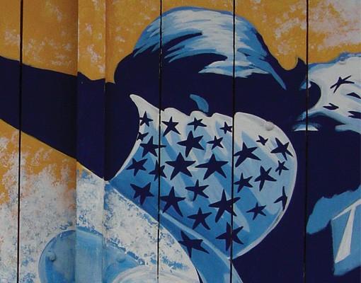 Produktfoto Selbstklebendes Wandbild Surfing Triptychon