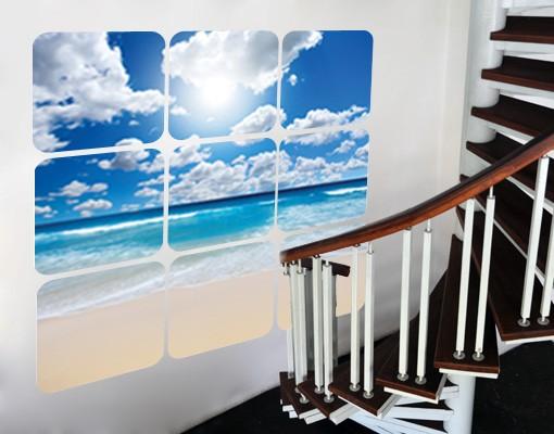 Produktfoto Selbstklebendes Wandbild Touch of Paradise Quadrate
