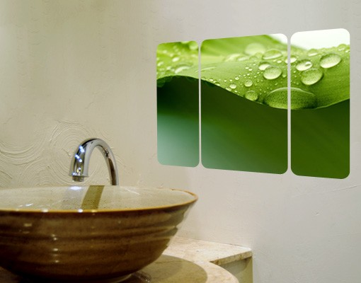 Produktfoto Selbstklebendes Wandbild Drops Of Nature Triptychon II