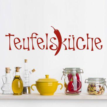Produktfoto Wandtattoo Sprüche - Wandworte No.UL330 Teufelsküche 2