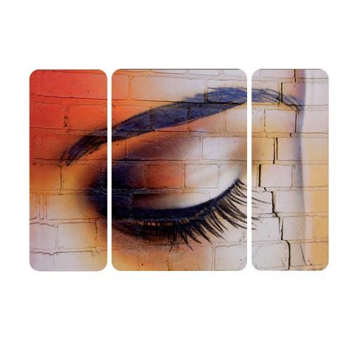 Produktfoto Selbstklebendes Wandbild The Latina Eye Triptychon I