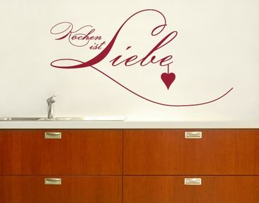 Product picture Wall Decal No.SF131 Kochen ist Liebe