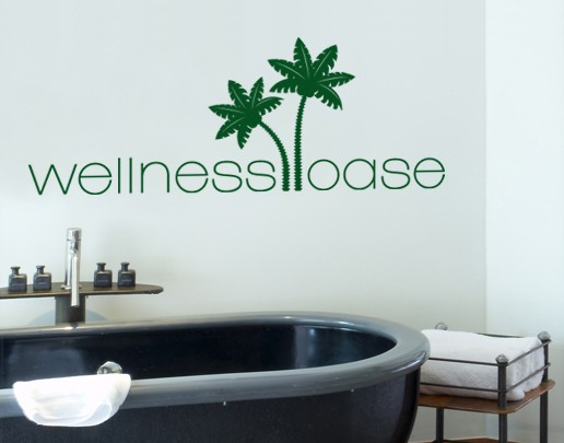 Produktfoto Wandtattoo Sprüche - Wandworte No.SF638 Wellnessoase