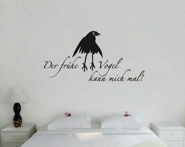Product picture Wall Decal no.SF641 der frühe Vogel
