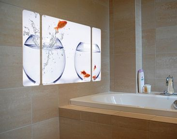 Product picture Wall Mural The Flying Goldfish...