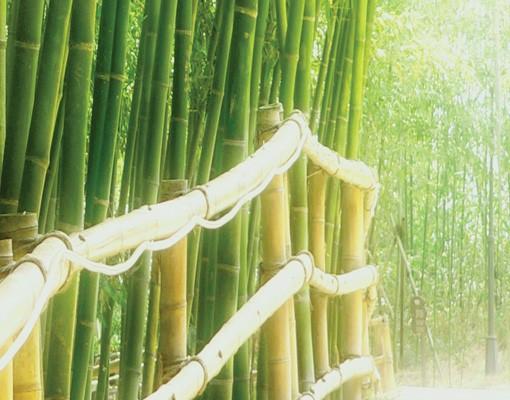 Produktfoto Selbstklebendes Wandbild Die Bambusbrücke Triptychon