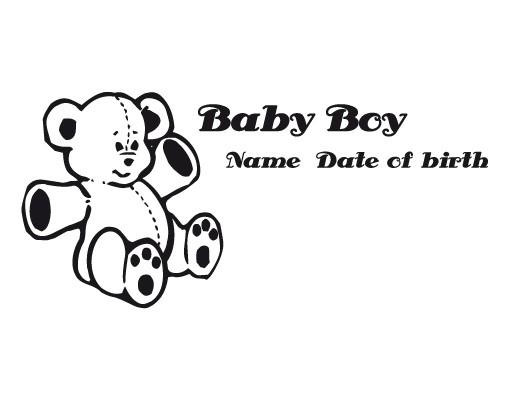 Produktfoto Wandtattoo Sprüche - Wandtattoo Namen No.491 Wunschtext Baby Boy