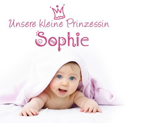 Produktfoto Wandtattoo Sprüche - Wandtattoo Namen No.494 Wunschtext Unsere kleine Prinzessin