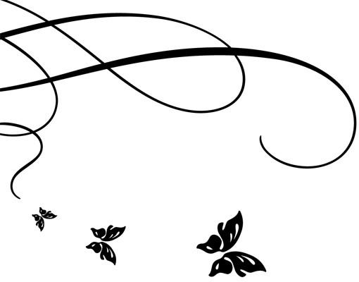 Produktfoto Wandtattoo Sprüche - Wandtattoo Namen No.530 Wunschtext Butterfly Wedding