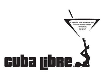 Product picture Wall Decal no.716 Cuba Libre