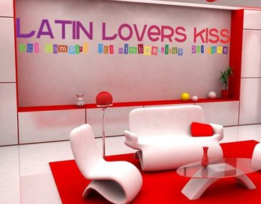 Produktfoto Wall Decal no.238 Latin Lovers Kiss