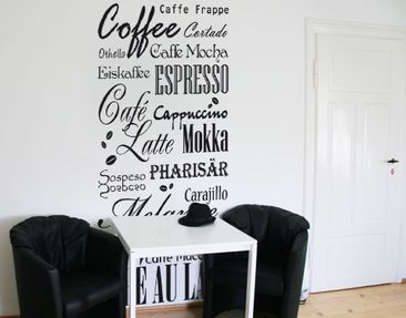 Produktfoto Wandtattoo Sprüche - Wandworte Tapete No.736 Coffee & more