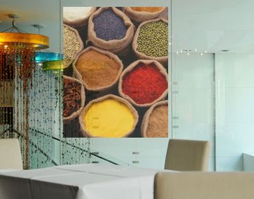 Produktfoto Window Mural Colourful Spices