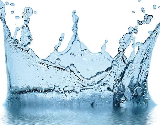 Produktfoto Selbstklebendes Wandbild Blue Water Splash