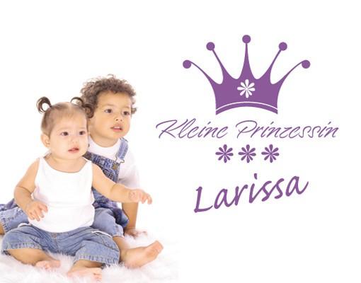 Produktfoto Wandtattoo Sprüche - Wandtattoo Namen No.SF706 Wunschtext Kleine Prinzessin