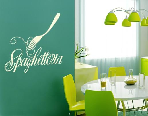 Produktfoto Wandtattoo Sprüche - Wandworte No.UL386 Spaghetteria