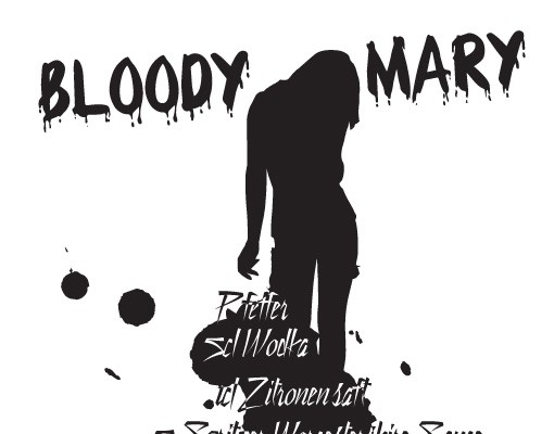Produktfoto Wandtattoo No.JO23 Bloody Mary