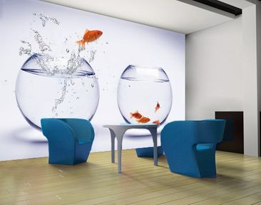 Produktfoto Photo Wall Mural Flying Goldfish
