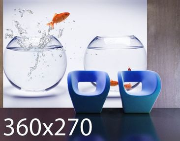 Product picture Photo Wall Mural Flying Goldfish