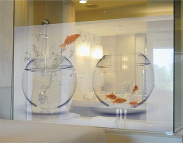 Produktfoto Window Mural Flying Goldfish