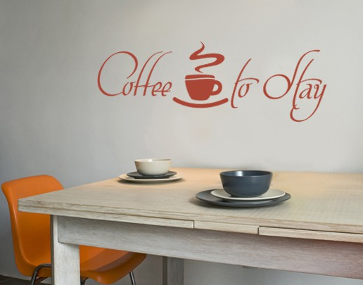 Produktfoto Wandtattoo Sprüche - Wandworte No.UL419 Coffee to Stay 2