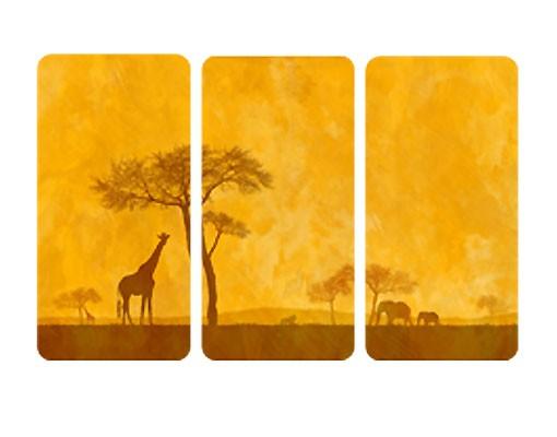 Produktfoto Selbstklebendes Wandbild Amazing Kenya Triptychon