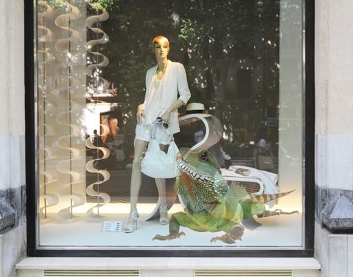 Produktfoto Fensterfolie - Fenstersticker No.140 Grüner Leguan II - Fensterbilder