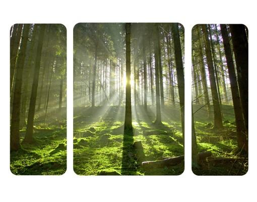 Produktfoto Selbstklebendes Wandbild The Spring Fairytale Triptychon