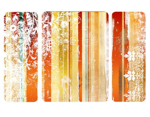 Produktfoto Selbstklebendes Wandbild Streaky I Triptych II