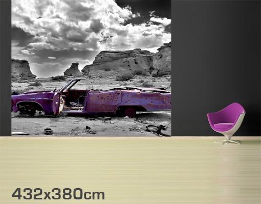 Produktfoto Selbstklebende Tapete - Fototapete Pink Cadillac