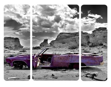 Product picture Wall Mural Pink Cadillac Triptych II