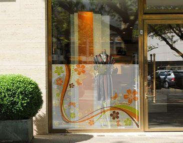 Produktfoto Fensterfolie - Sichtschutz Fenster October - Fensterbilder