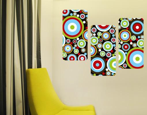 Produktfoto Selbstklebendes Wandbild Abstract Triptychon