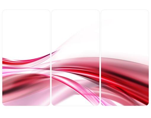 Produktfoto Selbstklebendes Wandbild Pink Dust Triptychon