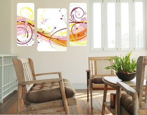 Produktfoto Selbstklebendes Wandbild The August Triptychon