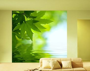 Produktfoto Photo Wall Mural Green Ambiance III