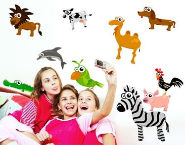 Produktfoto Wall Decal no.241 Crazy Animals
