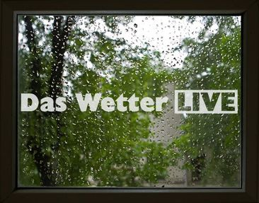 Produktfoto Window Sticker no.UL464 The Weather Live...