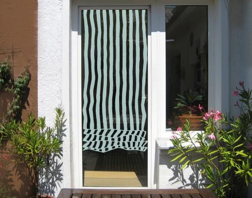 Produktfoto Fensterfolie - Sichtschutzfolie No.UL468 Raffrollo Streifen - Milchglasfolie