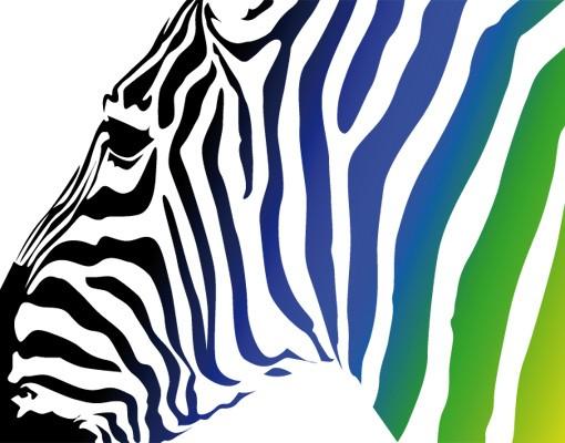 Produktfoto Wandtattoo No.252 Regenbogenzebra