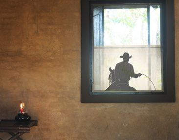 Produktfoto Window Mural Riding Cowboy